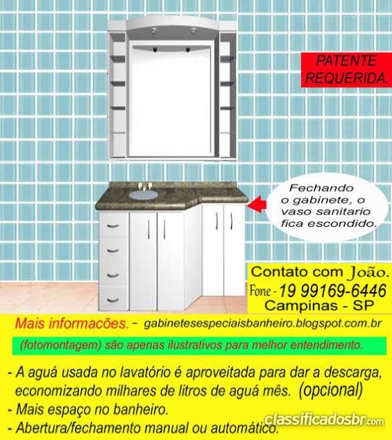 Gabinete deslizante para banheiro